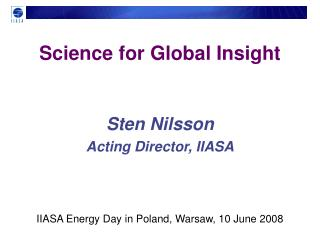 Science for Global Insight