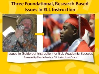 Three Foundational, Research-Based  Issues in ELL Instruction