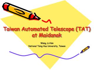 Taiwan Automated Telescope (TAT) at Maidanak