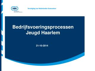 Bedrijfsvoeringsprocessen Jeugd Haarlem