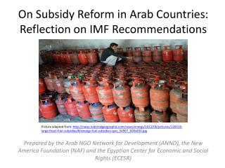 On Subsidy Reform in Arab Countries: Reflection on IMF Recommendations