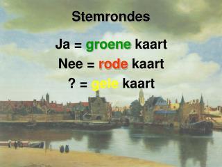 Stemrondes