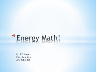 Energy Math!