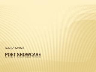 Poet Showcase