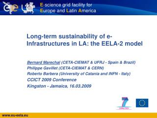 Long-term sustainability of e-Infrastructures in LA: the EELA-2 model
