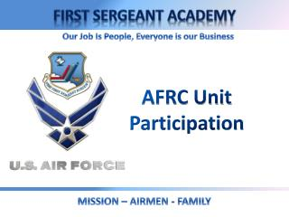AFRC Unit Participation
