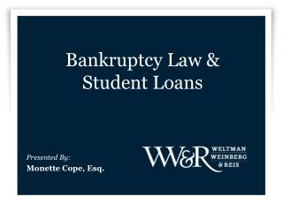Bankruptcy Law & Student Loans
