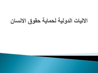 الاليات الدولية لحماية حقوق الانسان
