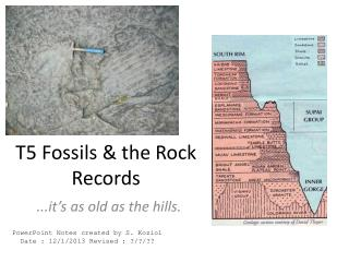 T5 Fossils & the Rock Records
