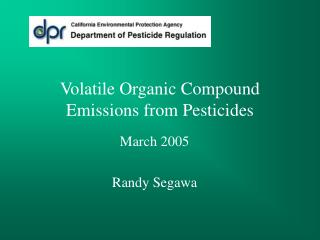 Volatile Organic Compound Emissions from Pesticides
