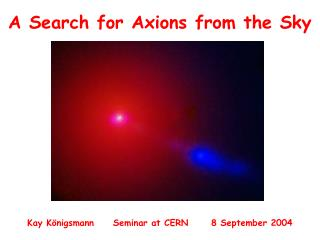 A Search for Axions from the Sky