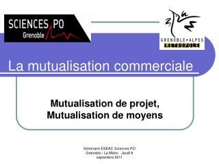 La mutualisation commerciale