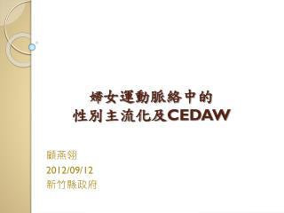 婦 女運動脈絡中的 性別主流化及 CEDAW