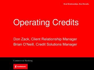 Operating Credits
