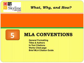 MLA CONVENTIONS