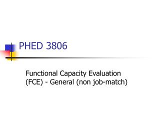 PHED 3806