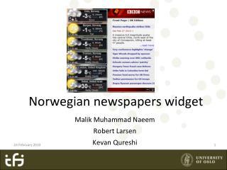 Norwegian newspapers widget