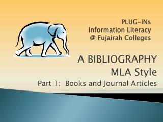 PLUG-INs  Information Literacy  @ Fujairah Colleges