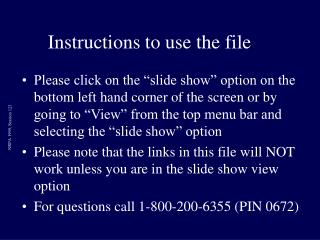 Instructions to use the file