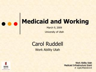 Medicaid and Working