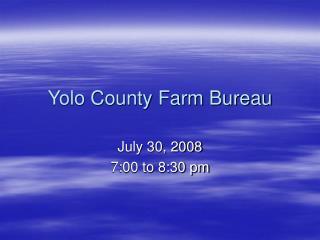 Yolo County Farm Bureau