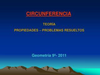 Geometría 9º- 2011