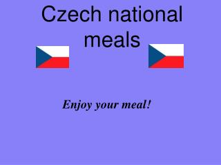 Czech national meals