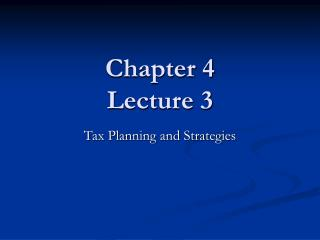 Chapter 4 Lecture 3