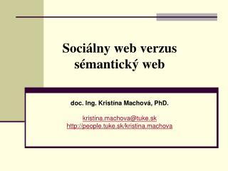 Sociálny web verzus sémantický web