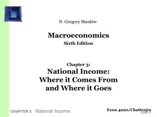CHAPTER 3   National Income