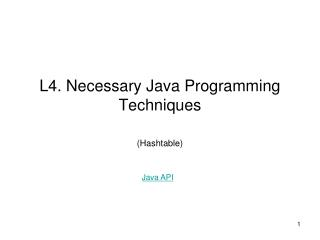L4. Necessary Java Programming Techniques