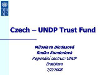 Czech – UNDP Trust Fund