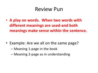 Review Pun