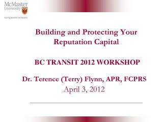Building and Protecting Your Reputation Capital