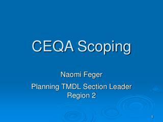 CEQA Scoping
