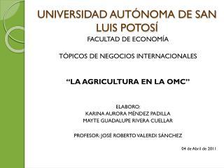 UNIVERSIDAD AUT�NOMA DE SAN LUIS POTOS�