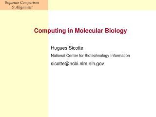 Computing in Molecular Biology
