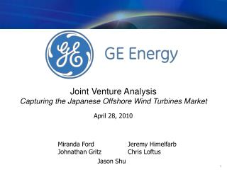 Joint Venture Analysis Capturing the Japanese Offshore Wind Turbines Market