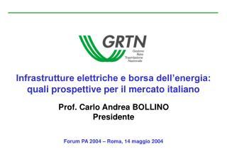 Infrastrutture elettriche e borsa dell�energia: quali prospettive per il mercato italiano