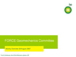 FORCE Geomechanics Committee