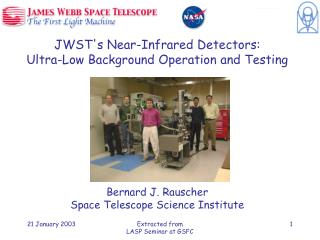JWSTs Near-Infrared Detectors: Ultra-Low Background Operation and Testing