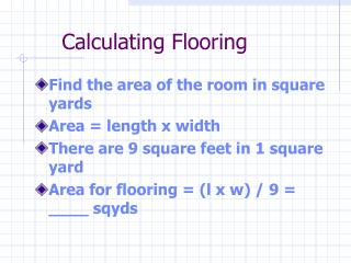 Calculating Flooring