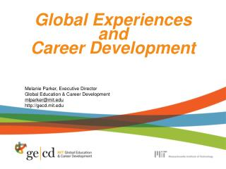 Global Experiences and Career Development