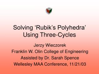 Solving 'Rubik's Polyhedra' Using Three-Cycles