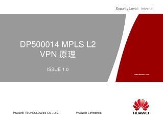 DP500014  MPLS L2 VPN  原理