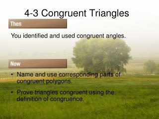 4-3 Congruent Triangles