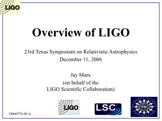 Overview of LIGO