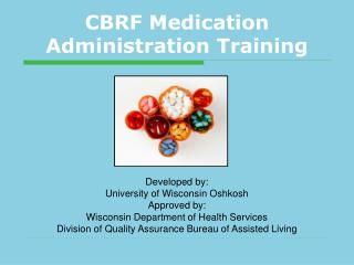 CBRF Medication Administration Training