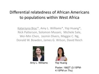 Differential relatedness of African Americans to populations within West Africa