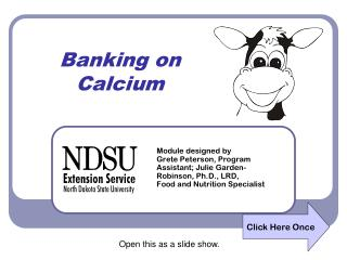 Banking on Calcium